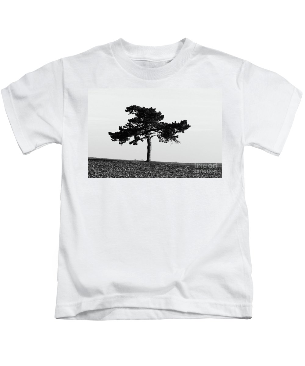 Abstract Kids T-Shirt featuring the photograph Lonely Pine by Alan Look