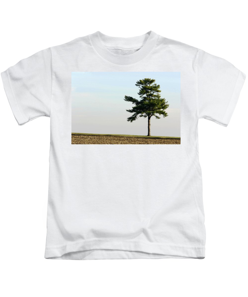 Abstract Kids T-Shirt featuring the photograph Lonesome Fir by Alan Look