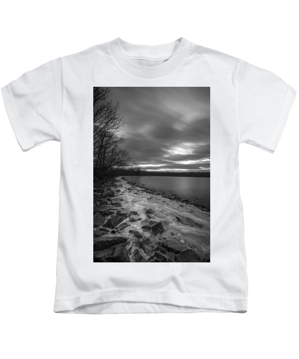 Long Exposures Kids T-Shirt featuring the photograph Long Cold by Todd Wilkinson