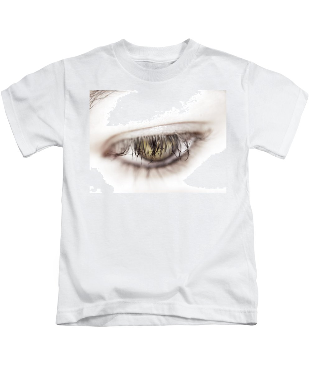 Eye Kids T-Shirt featuring the photograph Look Away by Kelly Jade King