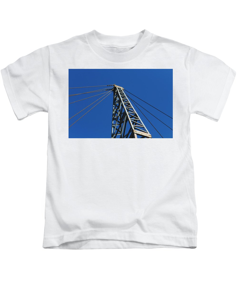 Kids T-Shirt featuring the photograph Looking Up by Hunter Kotlinski