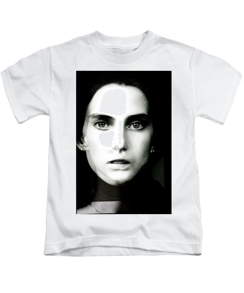 Kids T-Shirt featuring the painting Madam Shiller by Maciej Mackiewicz