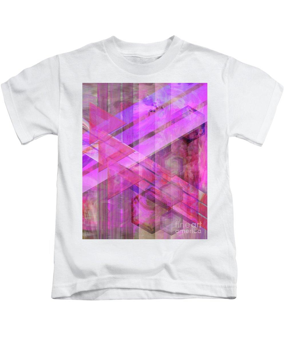 Magenta Haze Kids T-Shirt featuring the digital art Magenta Haze by John Beck
