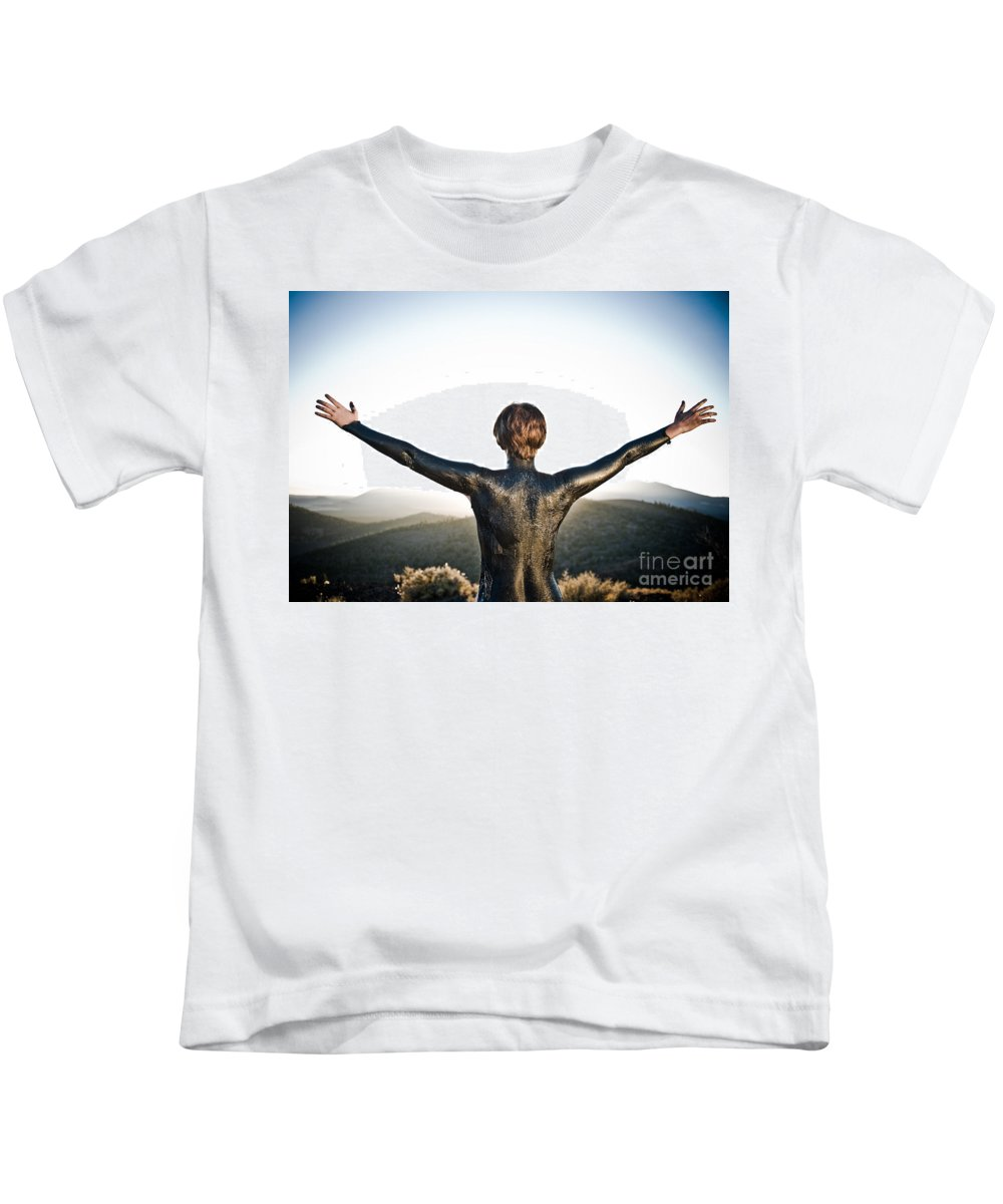 Early Sunset Kids T-Shirt featuring the photograph Majestic Wave by Scott Sawyer