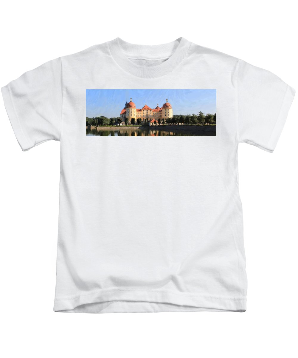Castle Kids T-Shirt featuring the painting Mancion - Id 16217-202751-2168 by S Lurk