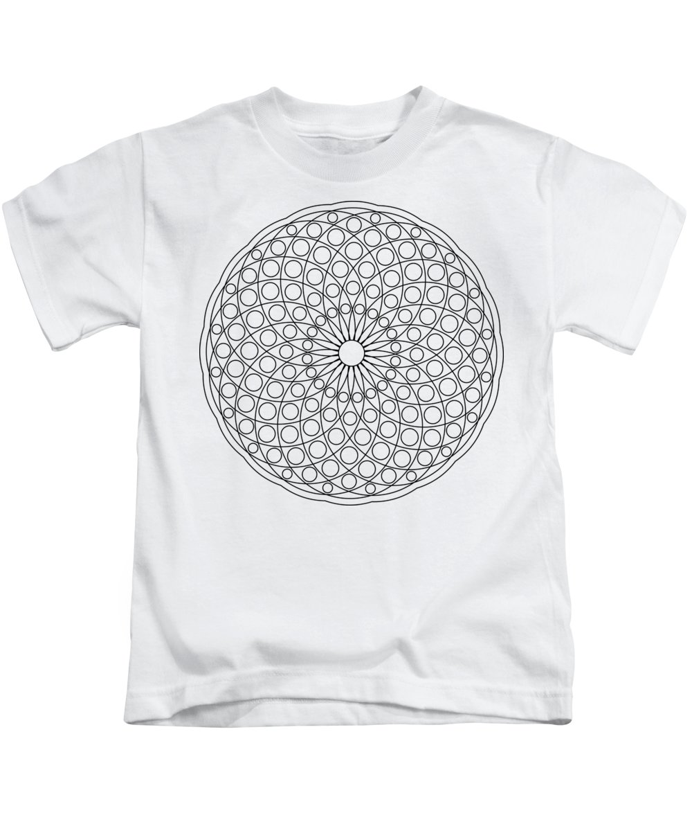 Mandala Kids T-Shirt featuring the digital art Mandala No 3 by Ummuhan Uslu