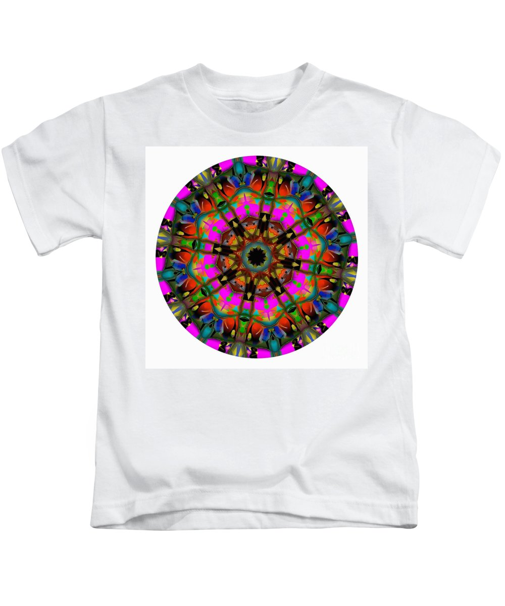Talisman Kids T-Shirt featuring the digital art Mandala - Talisman 1099 - Order Your Talisman. by Marek Lutek