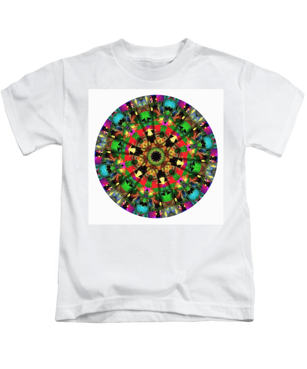 Talisman Kids T-Shirt featuring the digital art Mandala - Talisman 1104 - Order Your Talisman. by Marek Lutek