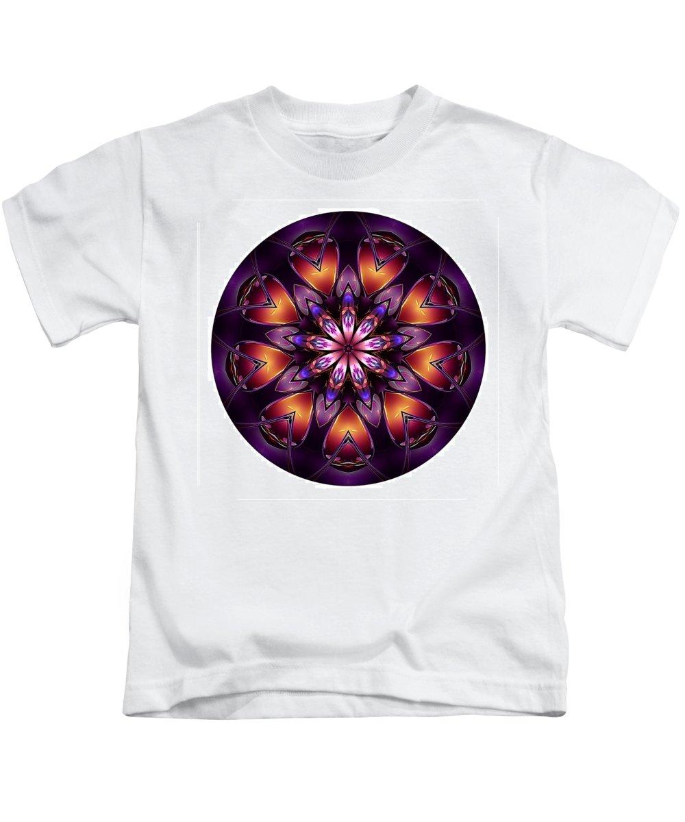 Talisman Kids T-Shirt featuring the digital art Mandala - Talisman 1432 by Marek Lutek