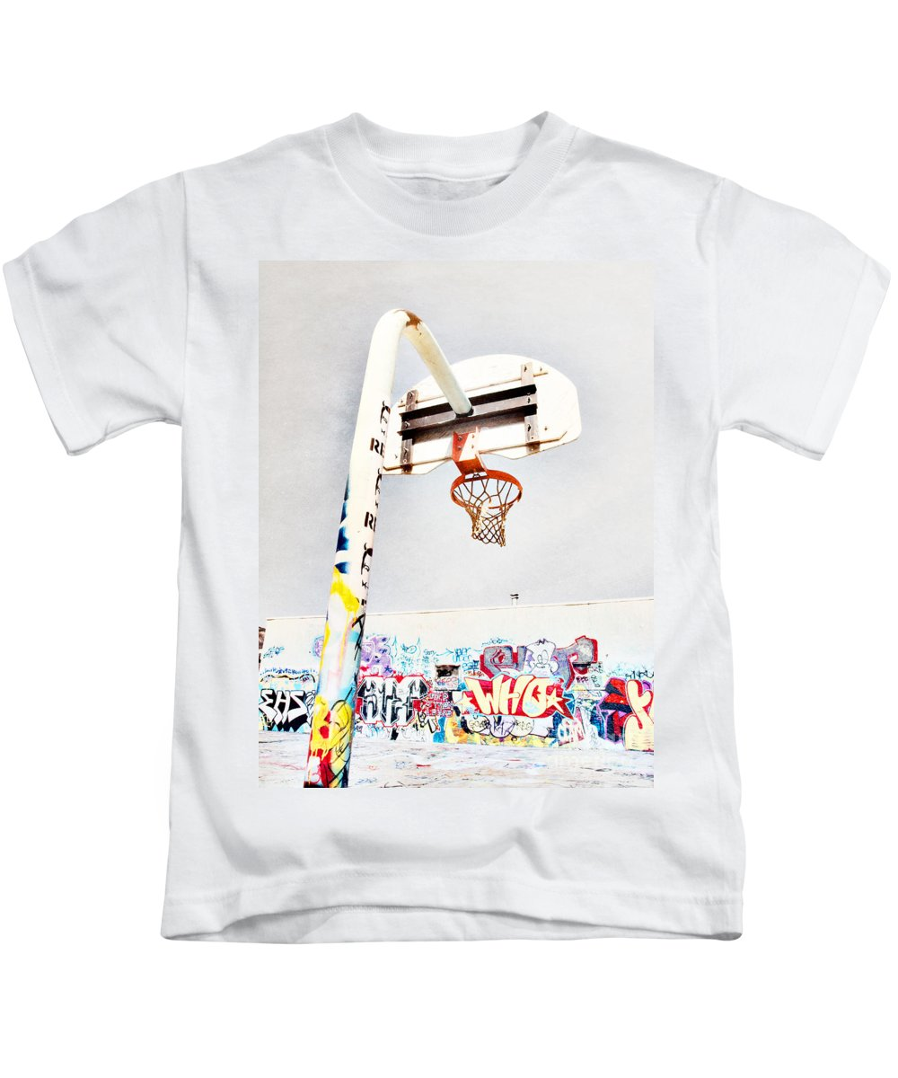Basketball Kids T-Shirt featuring the photograph March 23 2010 by Tara Turner