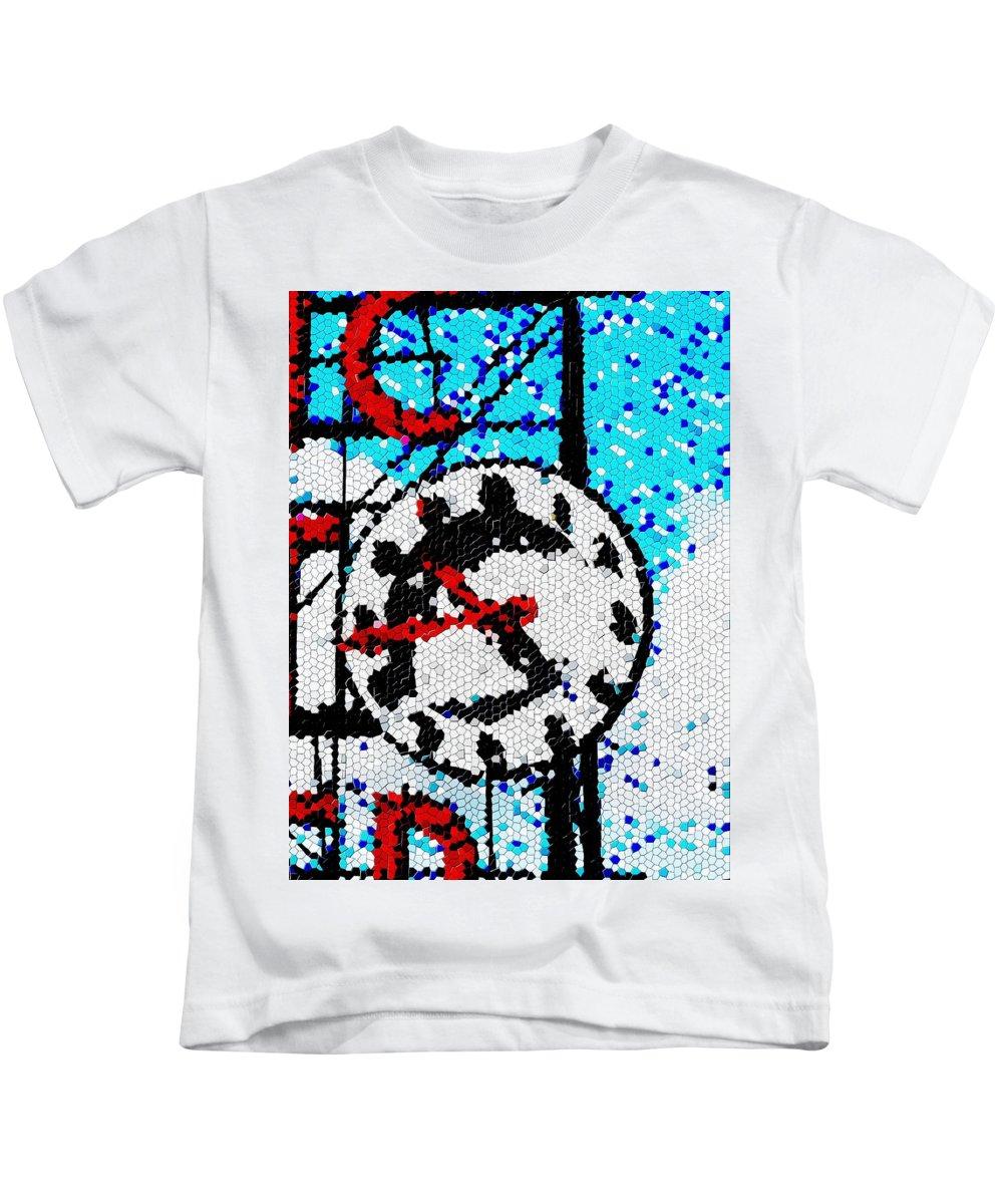 Seattle Kids T-Shirt featuring the digital art Market Clock Mosaic by Tim Allen