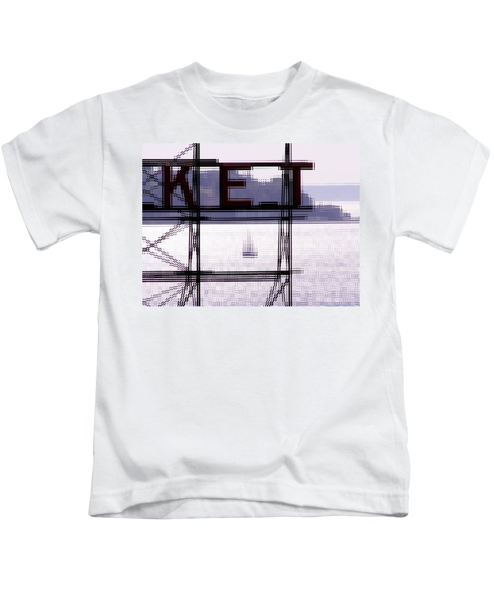 Seattle Kids T-Shirt featuring the digital art Market Sail by Tim Allen