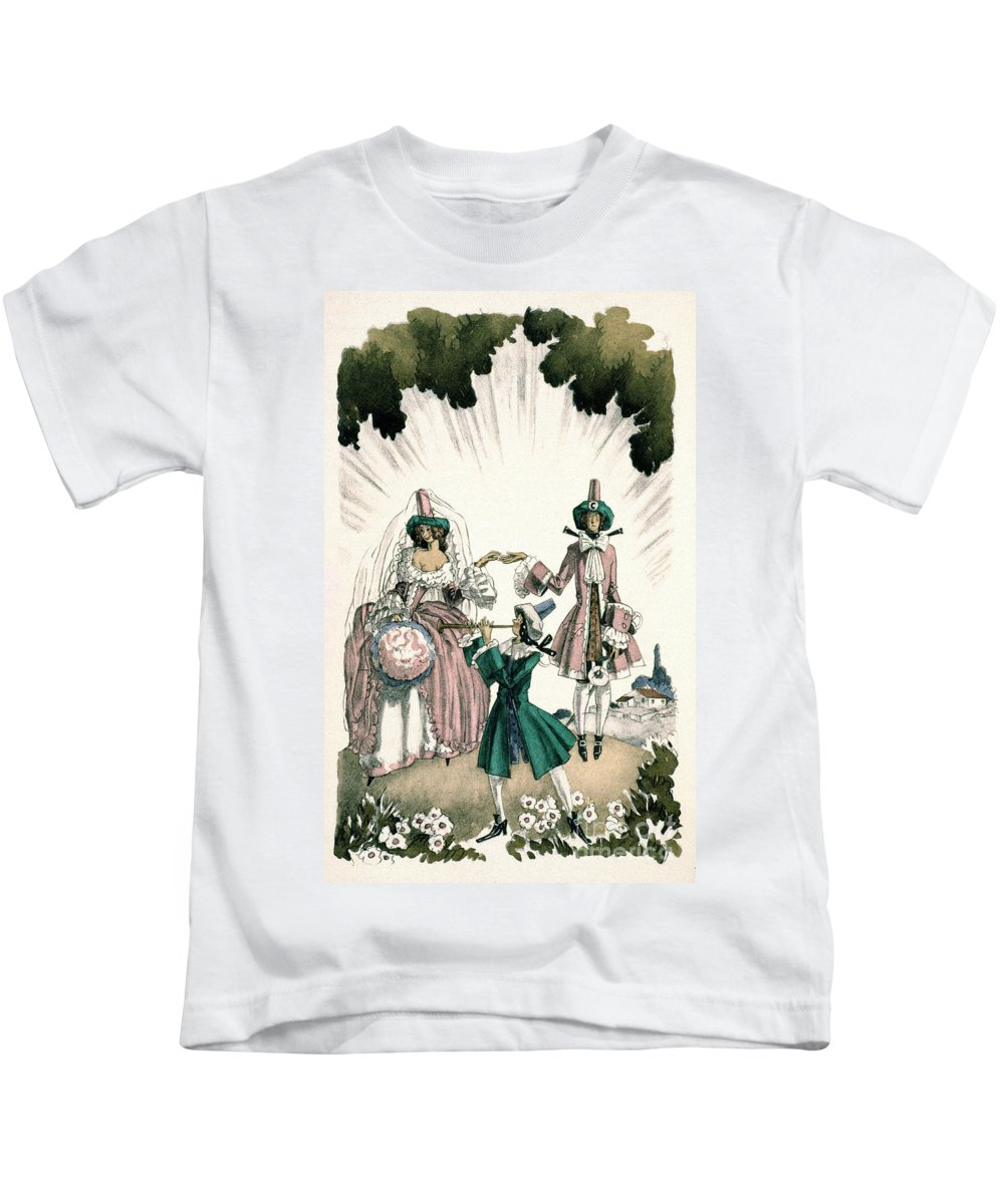 18th Century Kids T-Shirt featuring the photograph Marriage Of Candide by Granger