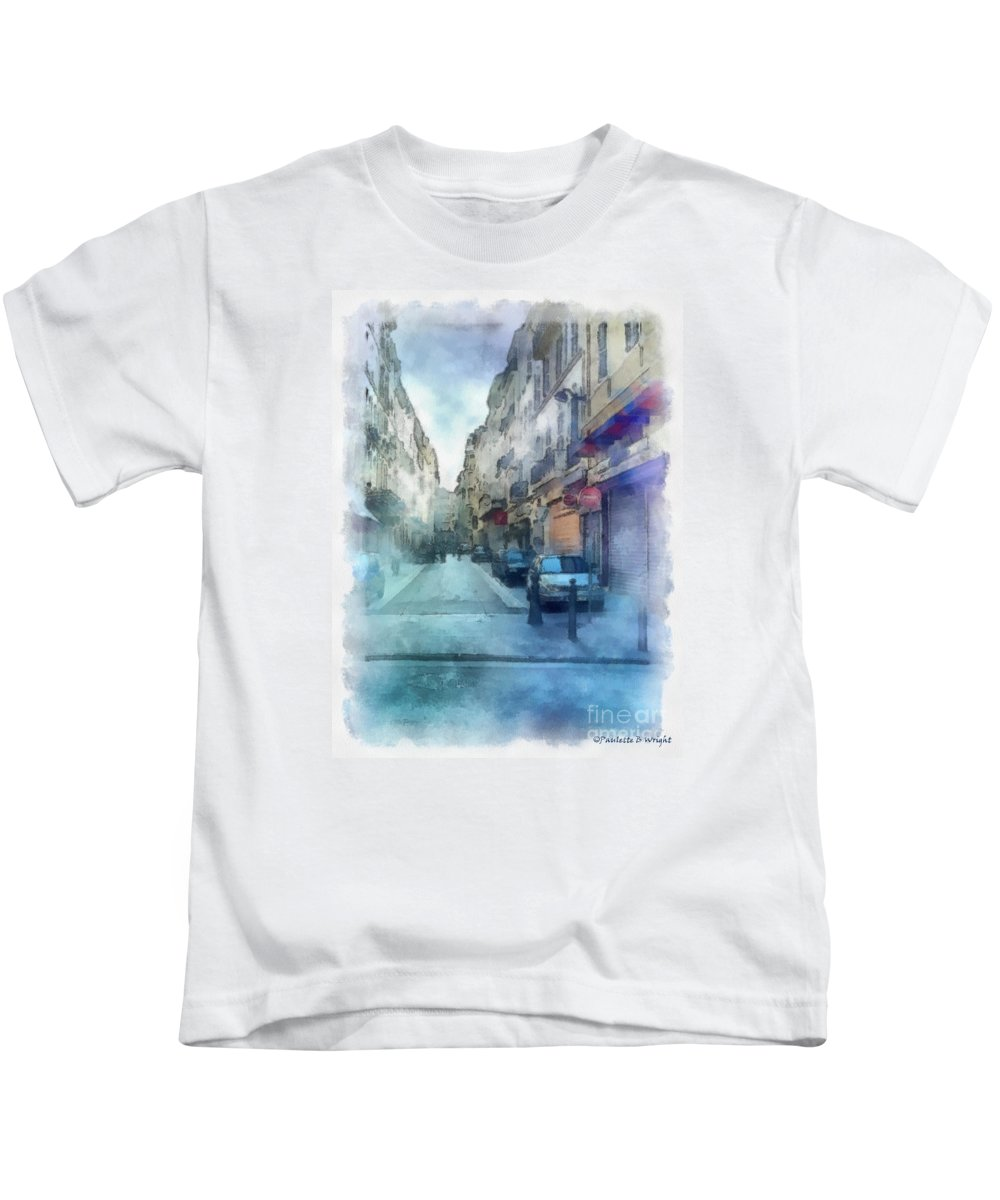 Marseille Kids T-Shirt featuring the photograph Marseille Back Street by Paulette B Wright