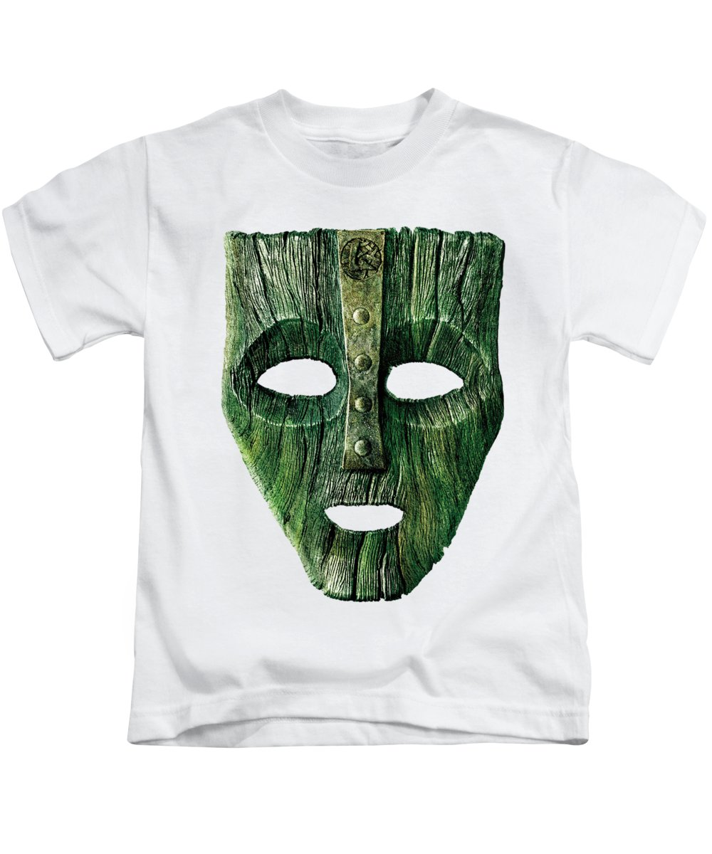 Mask Kids T-Shirt featuring the digital art Mask by Ingenuity Design