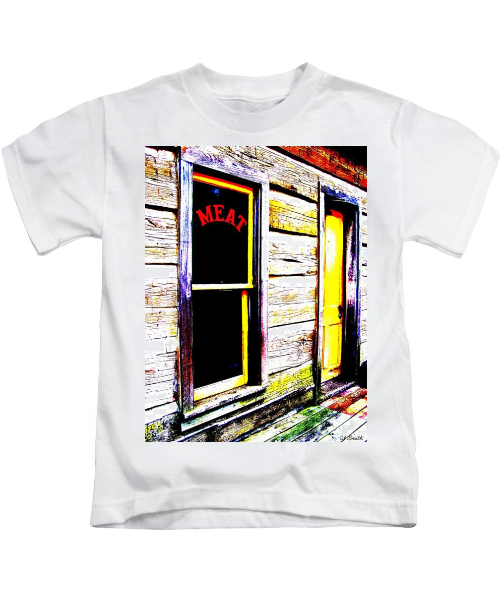 Meat Kids T-Shirt featuring the photograph Meat Market by Ed Smith