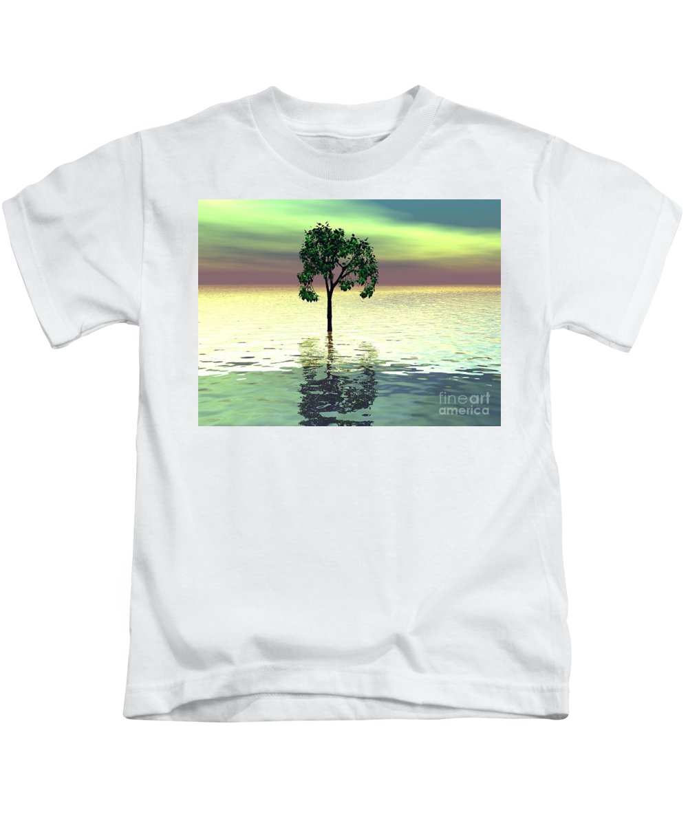 Decorative Kids T-Shirt featuring the digital art Meditation by Oscar Basurto Carbonell