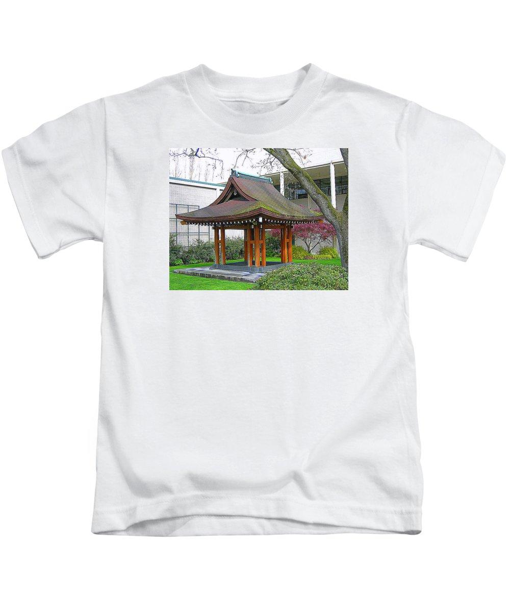 Japanese Kids T-Shirt featuring the photograph Meditation Pagoda by Maro Kentros