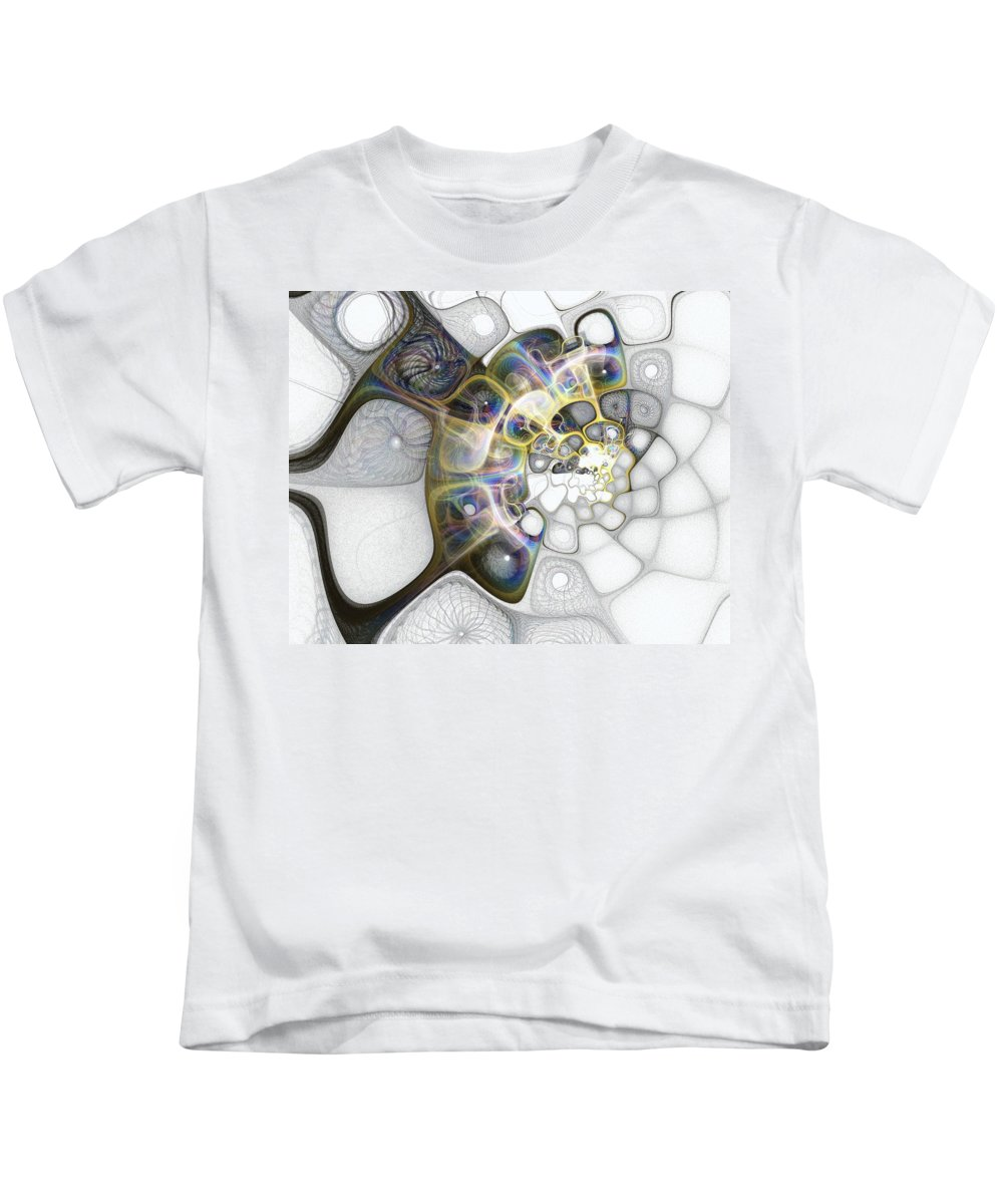 Digital Art Kids T-Shirt featuring the digital art Memories II by Amanda Moore