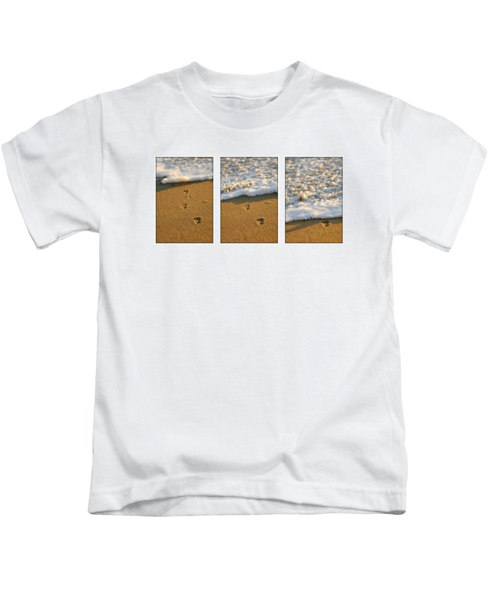 Beach Kids T-Shirt featuring the photograph Memories Washed Away by Jill Reger