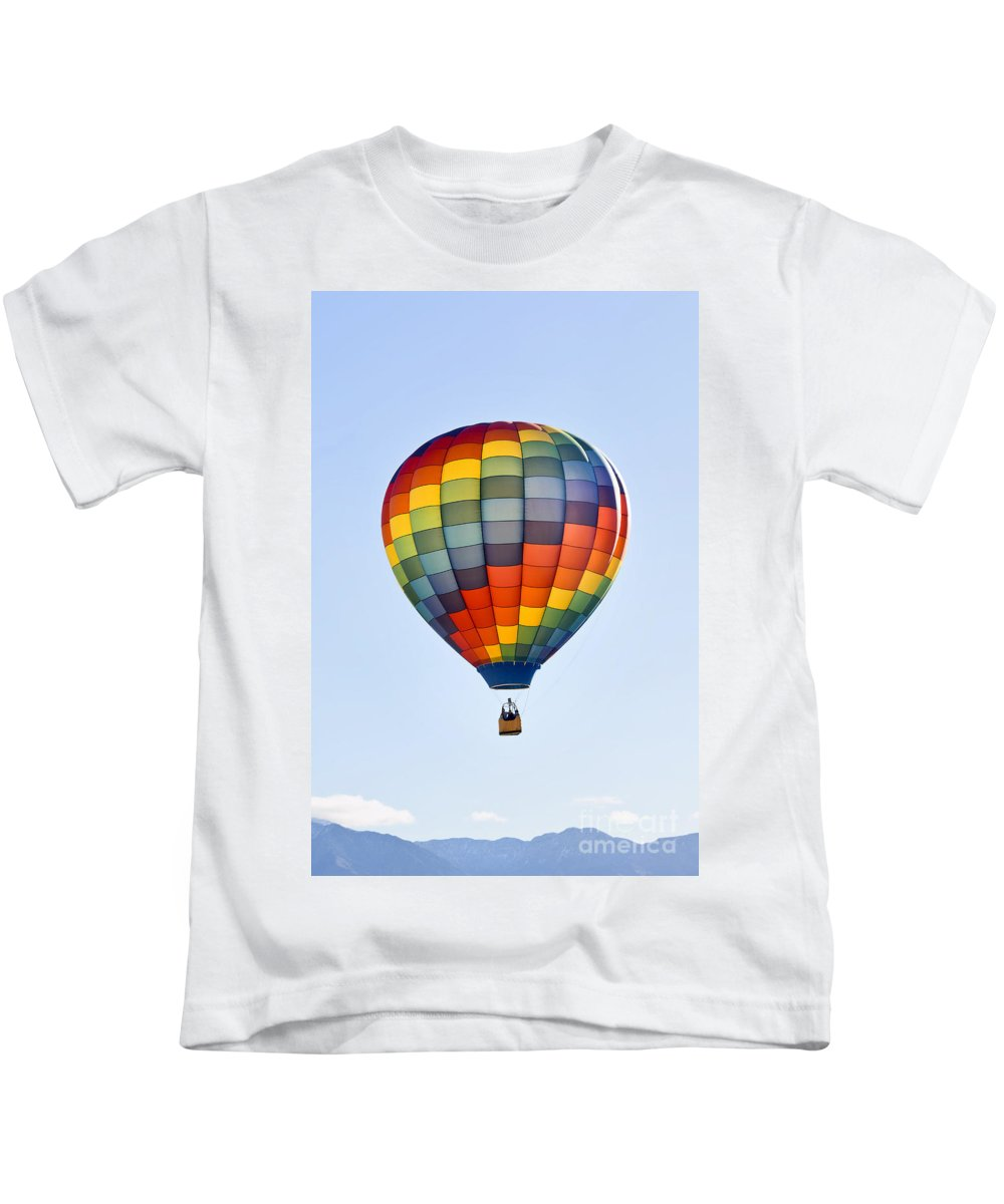 Casablanca Kids T-Shirt featuring the photograph Mesquite Balloon Festival In Mesquite Nevada by Ken Howard