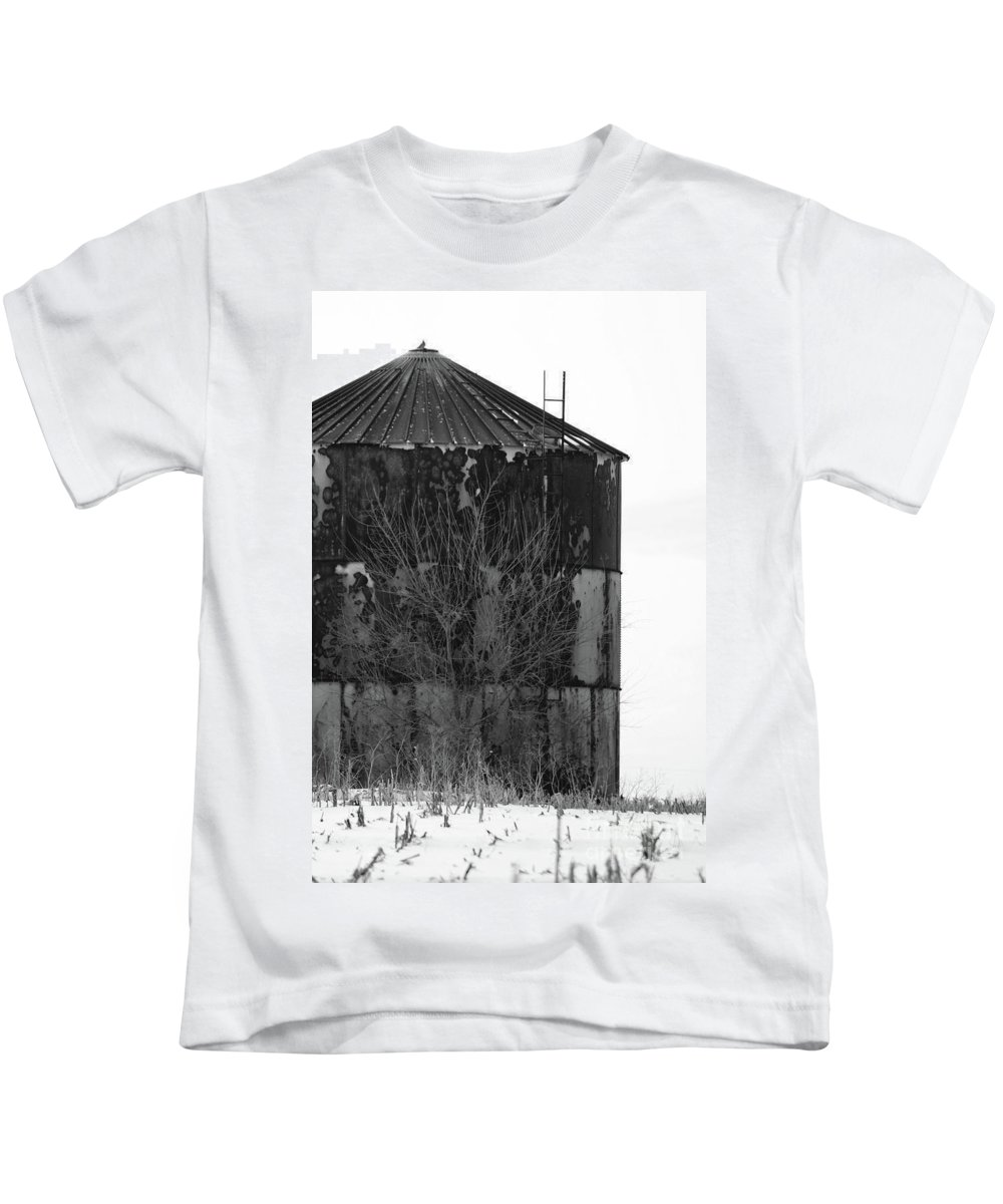 Rural Kids T-Shirt featuring the photograph Metal Storage by Alan Look