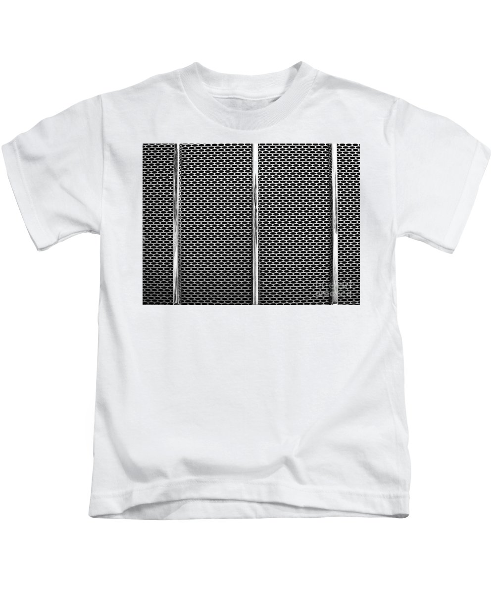 Abstract Kids T-Shirt featuring the photograph Metal Texture No.18 Bw by Fei A