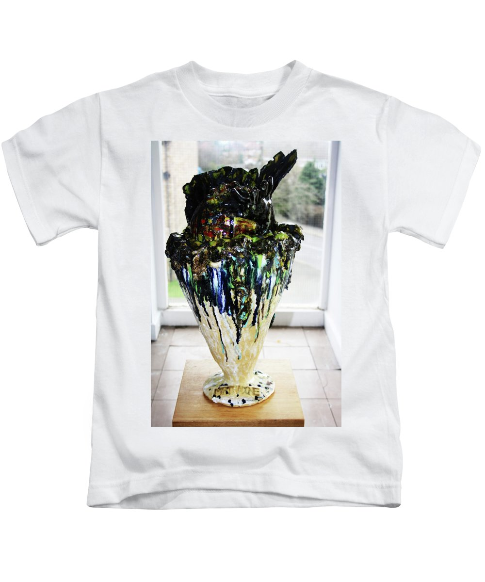 Jesus Kids T-Shirt featuring the sculpture Methadone Explosion View One by Gloria Ssali