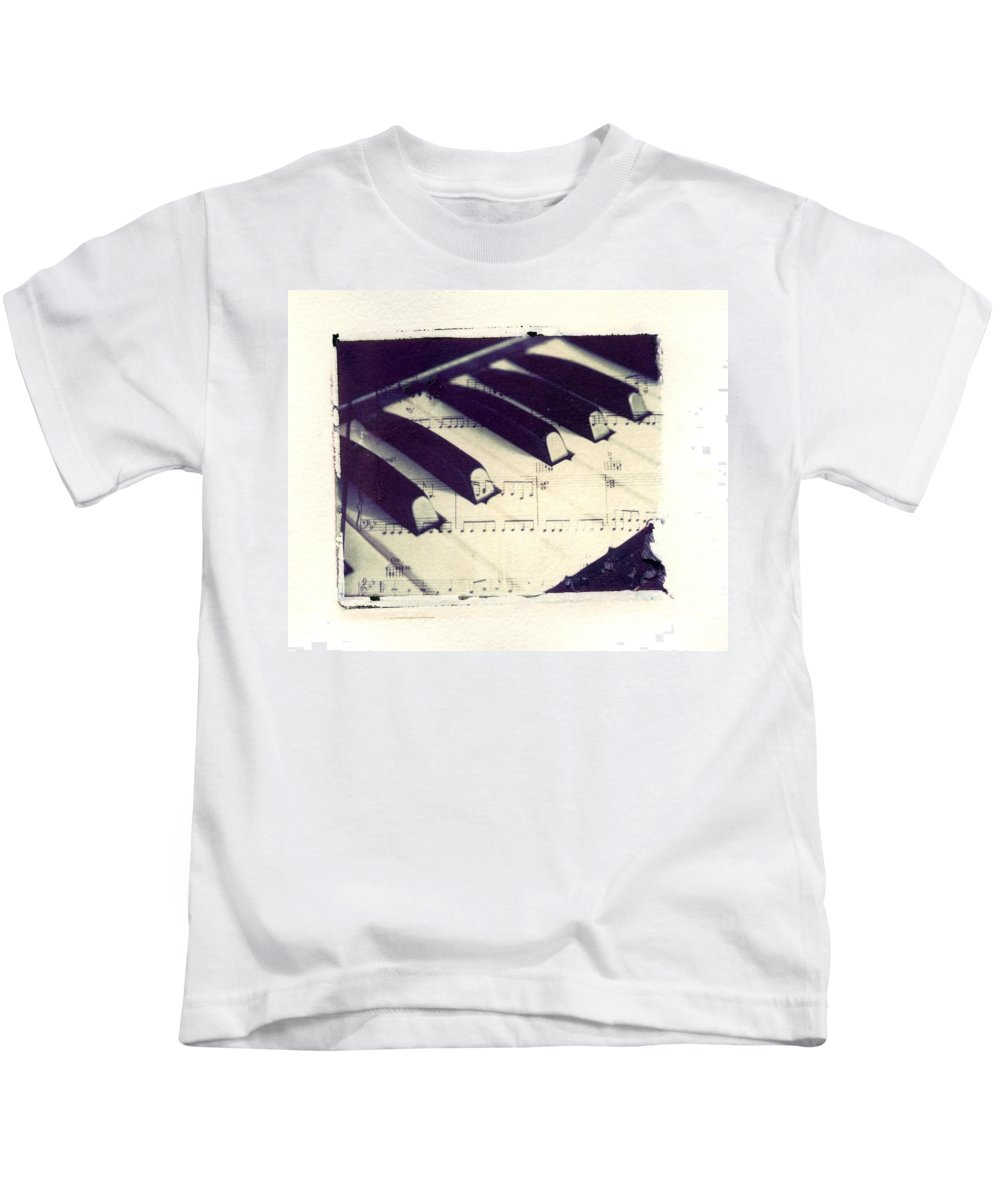 Polaroid Kids T-Shirt featuring the photograph Middle C Polaroid Transfer by Jane Linders