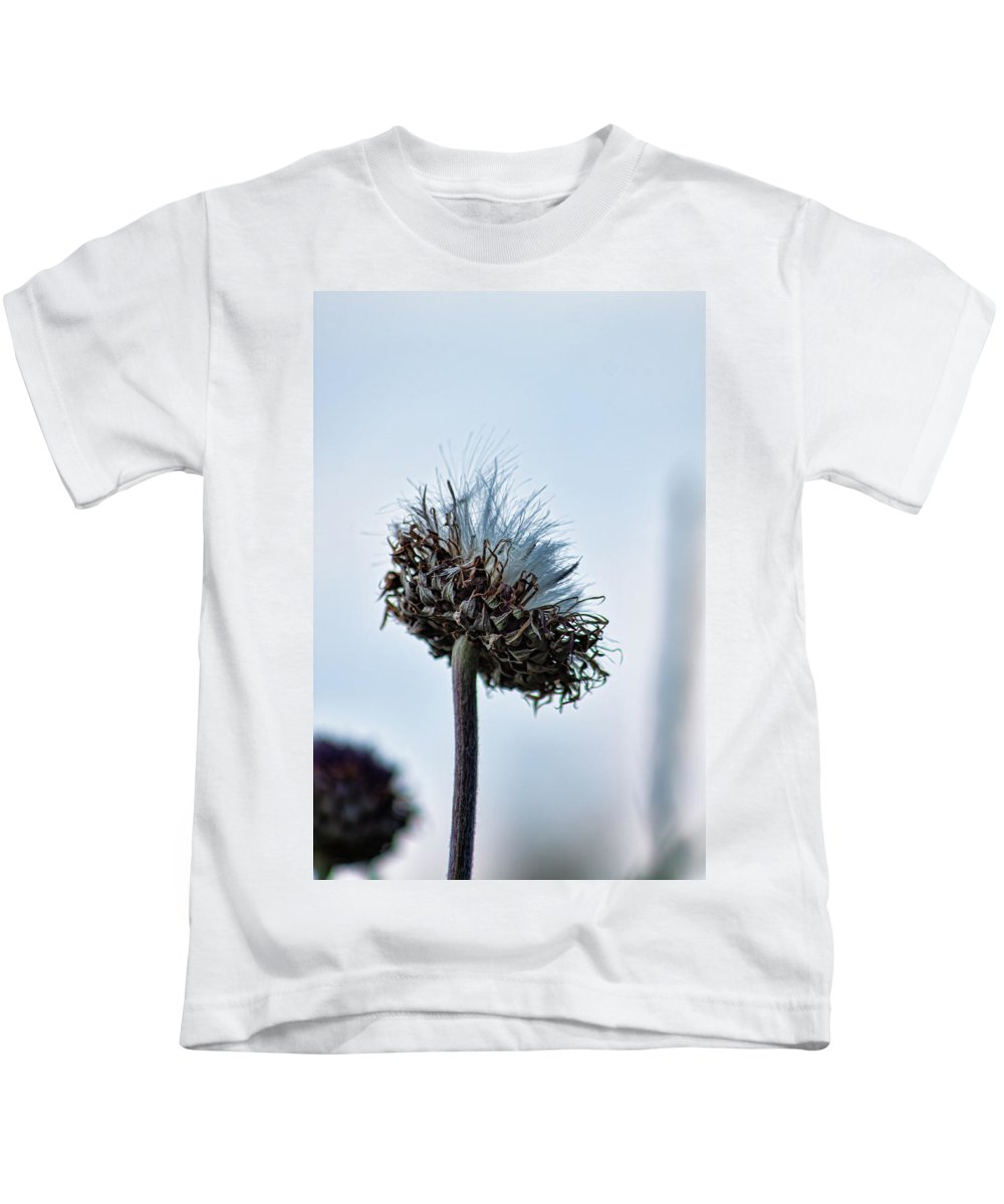 Weeds Kids T-Shirt featuring the photograph Milkthistle by Alan Anderson