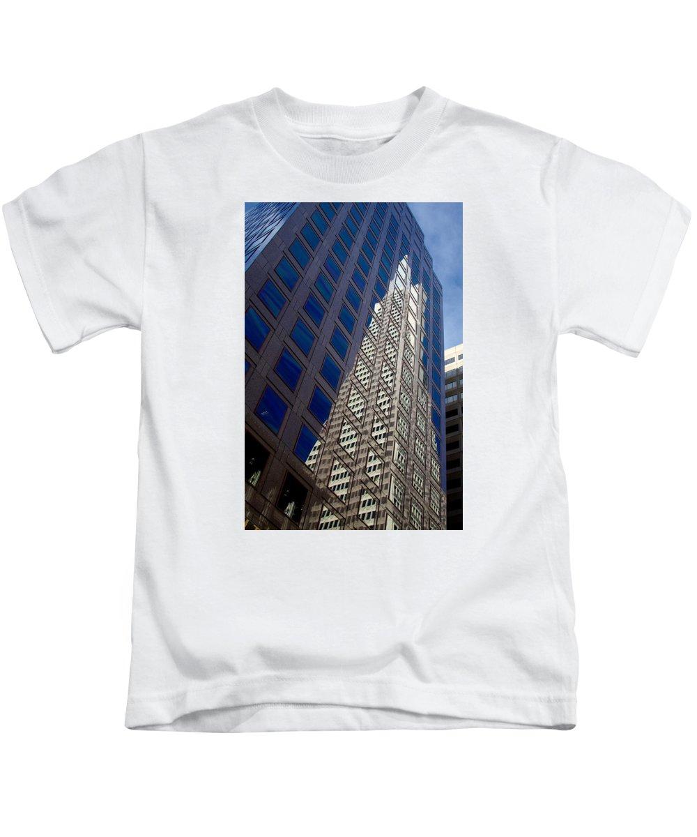 Transamerica Kids T-Shirt featuring the photograph Mirror, Mirror by Chris Saulit