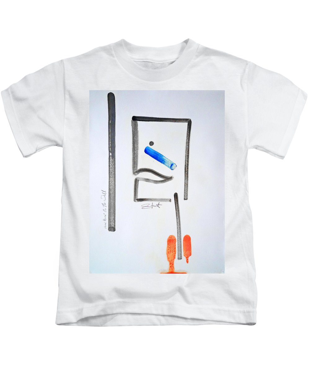 Drawing Kids T-Shirt featuring the painting Mirror Mirror On The Wall by Charles Stuart
