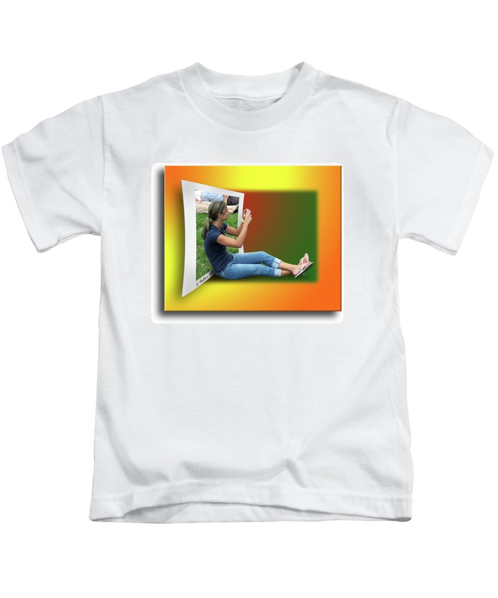 2d Kids T-Shirt featuring the photograph Modern Technology by Brian Wallace