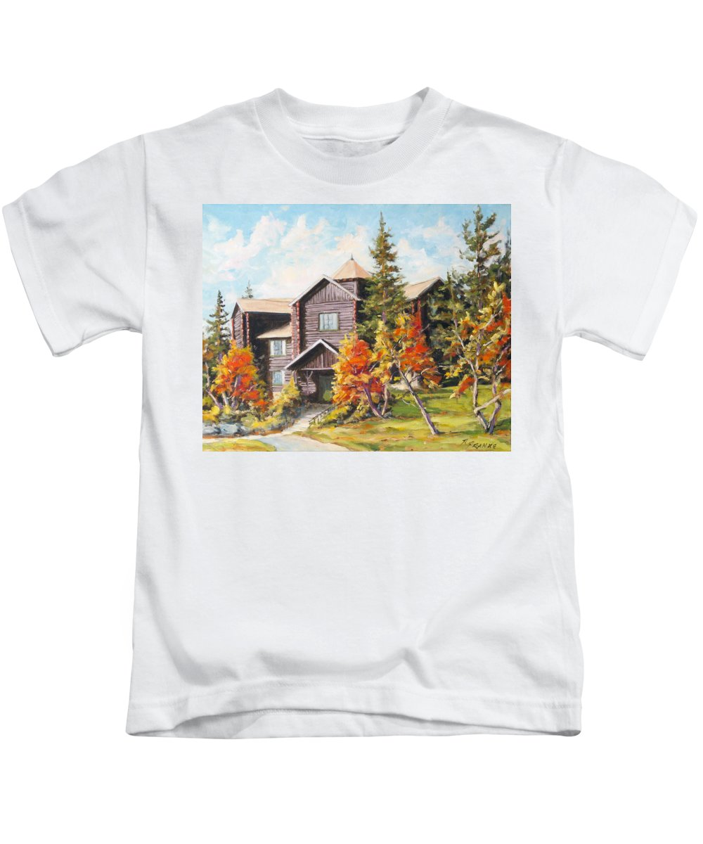 Landscape Kids T-Shirt featuring the painting Montebello by Richard T Pranke