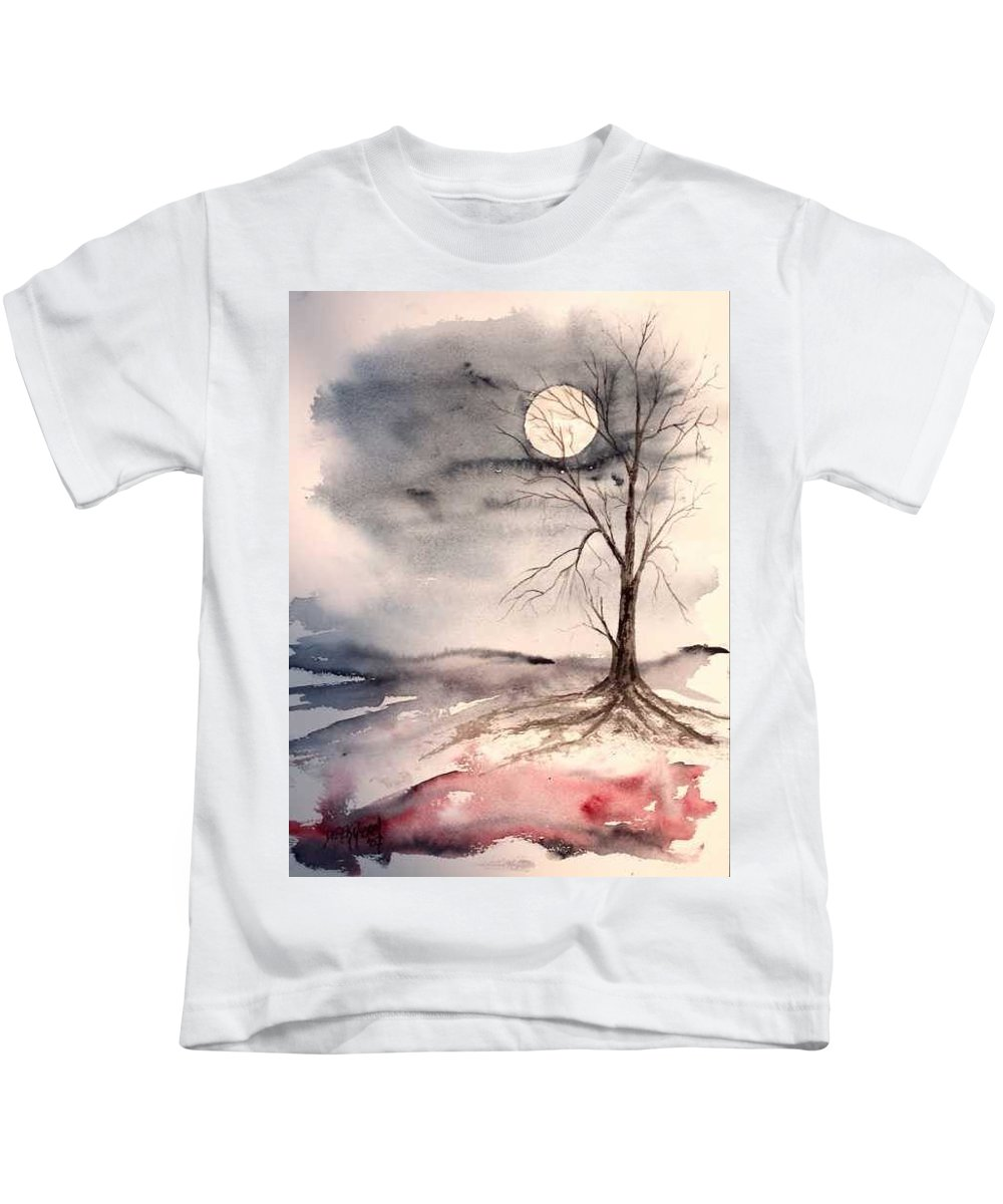 Moon Kids T-Shirt featuring the painting Moon Light by Derek Mccrea