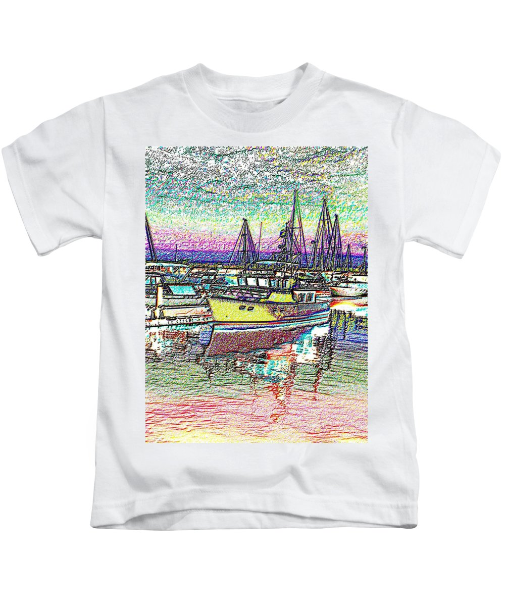 Seattle Kids T-Shirt featuring the photograph Moorage by Tim Allen