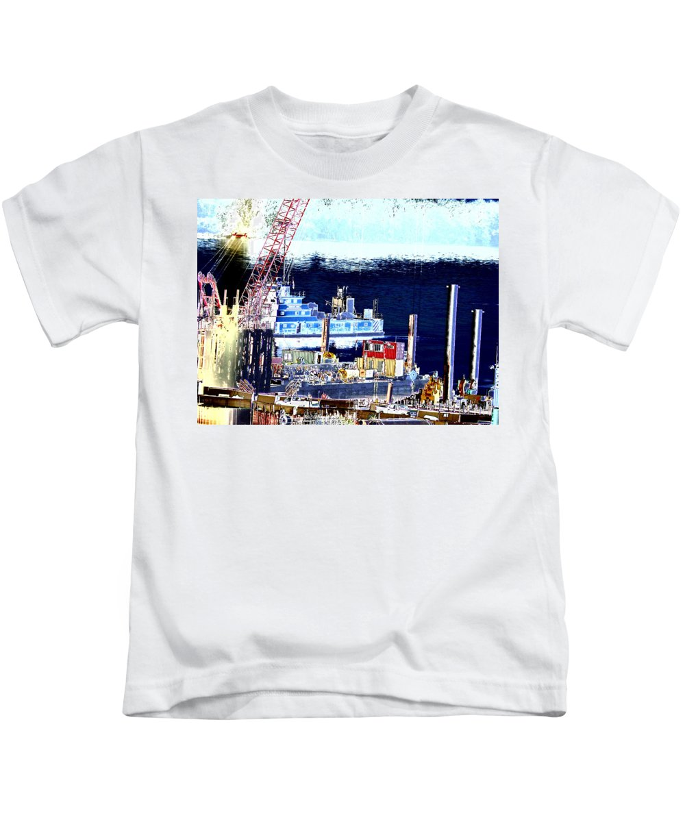 Abstract Kids T-Shirt featuring the photograph Morning Blooms by Rachel Christine Nowicki
