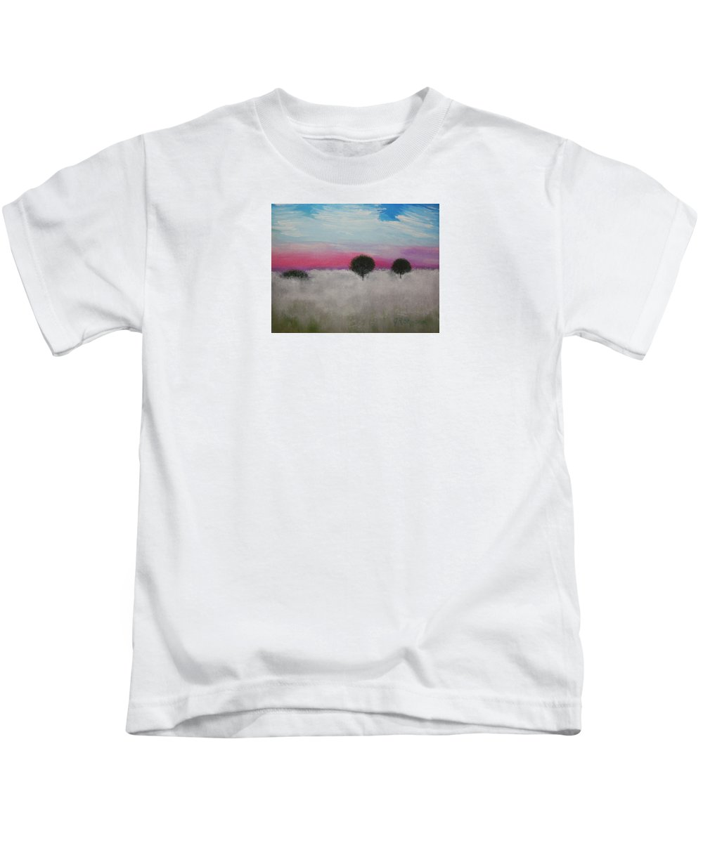 Impressionism Kids T-Shirt featuring the painting Morning Dew And I'm Thinking Of You by J R Seymour