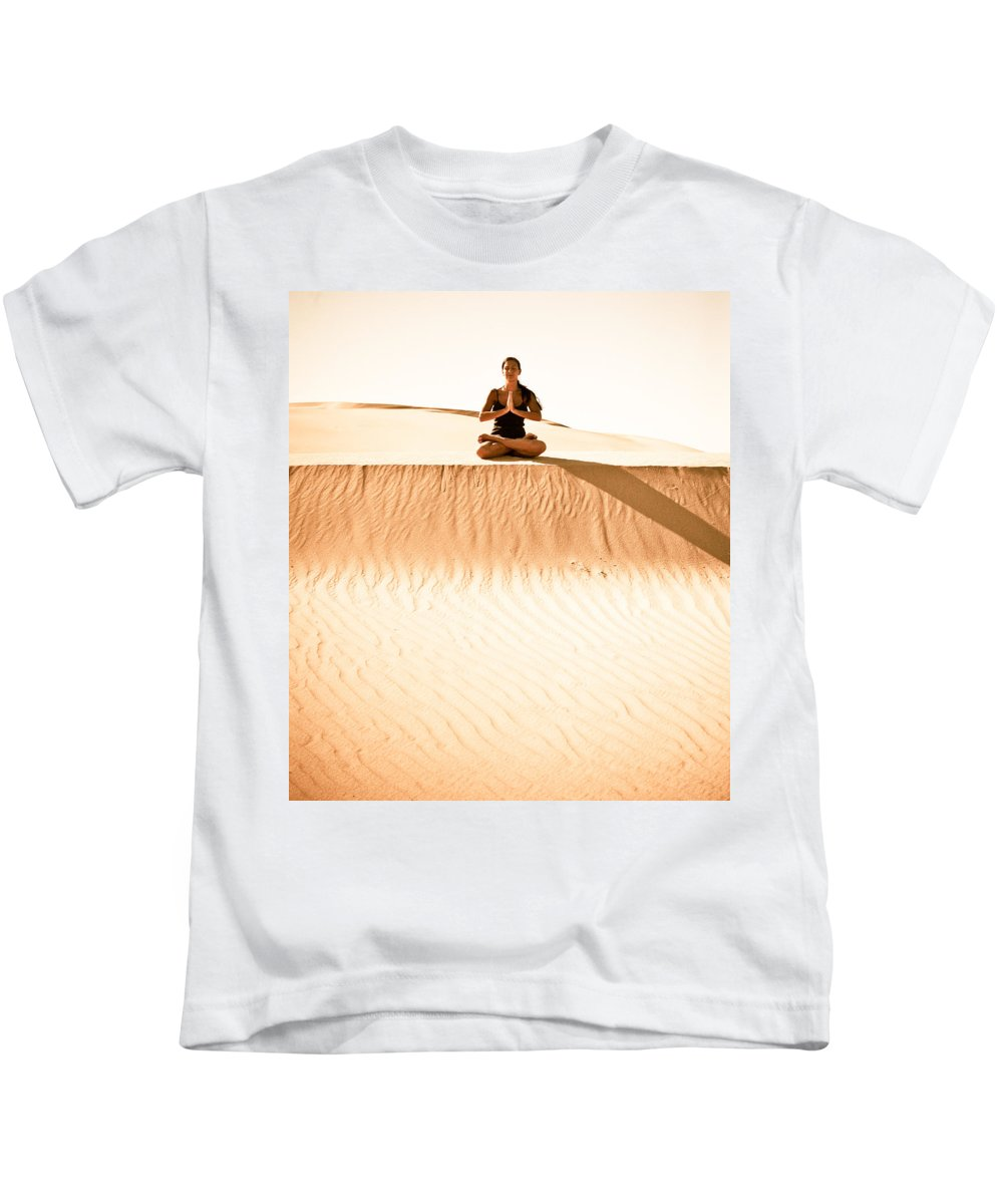 Yoga Kids T-Shirt featuring the photograph Morning Meditation by Scott Sawyer