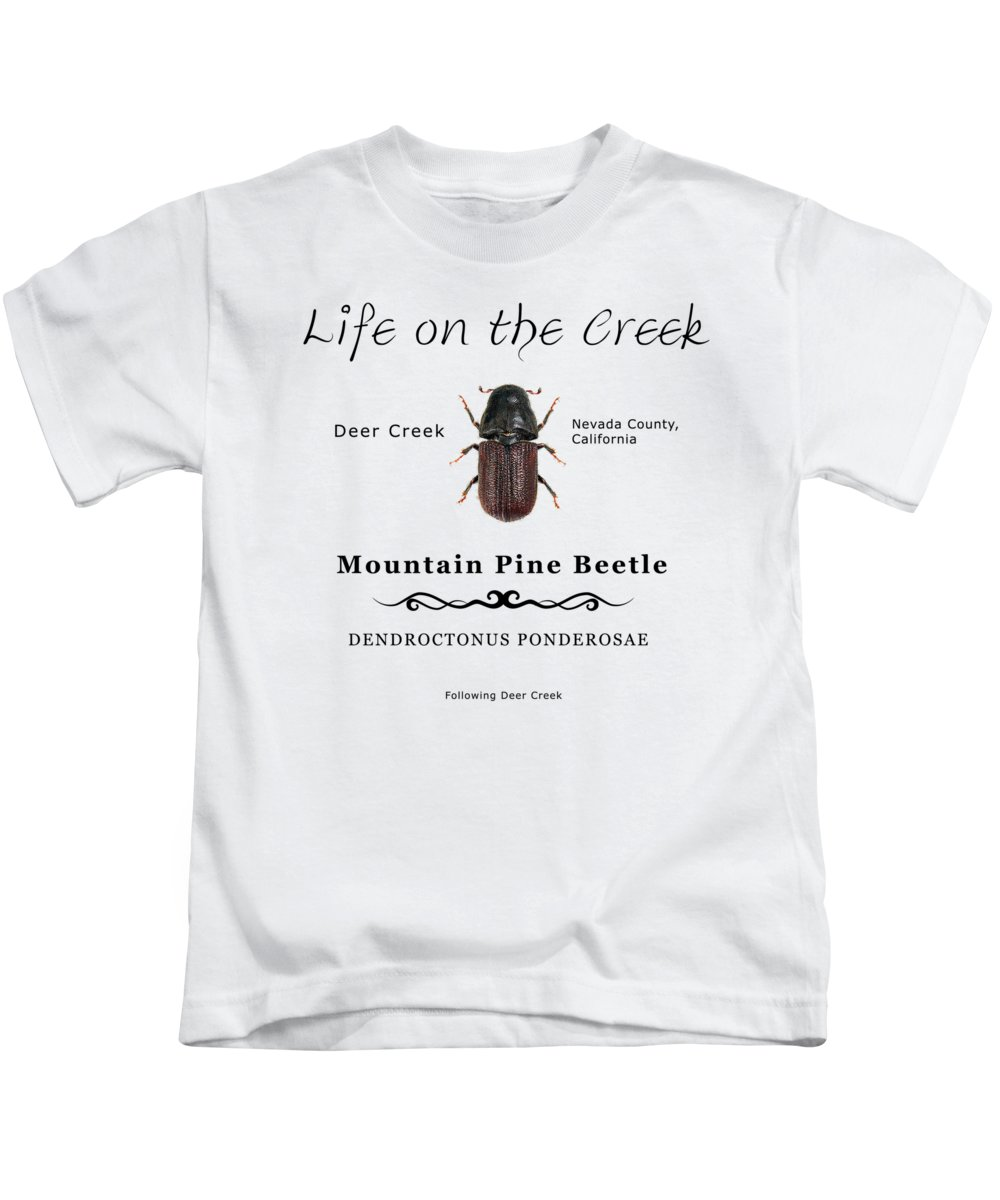 Bark Beetle Kids T-Shirt featuring the digital art Mountain Pine Beetle Color by Lisa Redfern