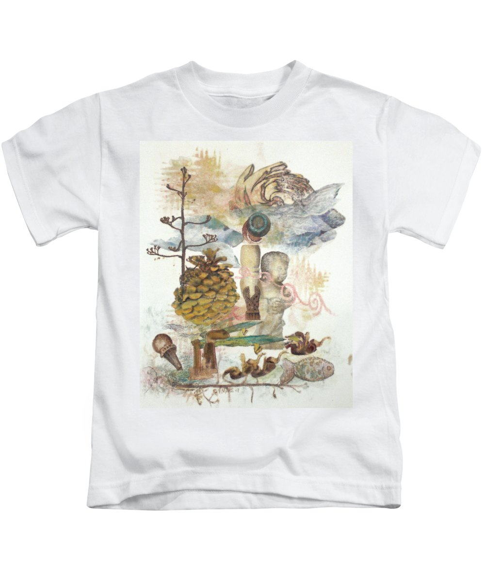 Abstract Kids T-Shirt featuring the painting Move Along by Valerie Meotti