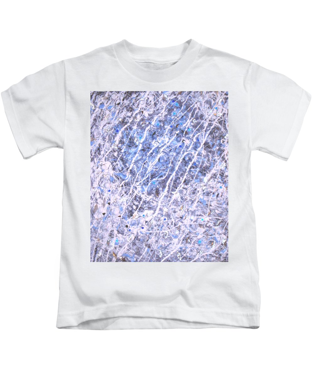 Moveonart! Digital Gallery Kids T-Shirt featuring the digital art Moveonart Blue Cool Purifying Soul by Jacob Kanduch