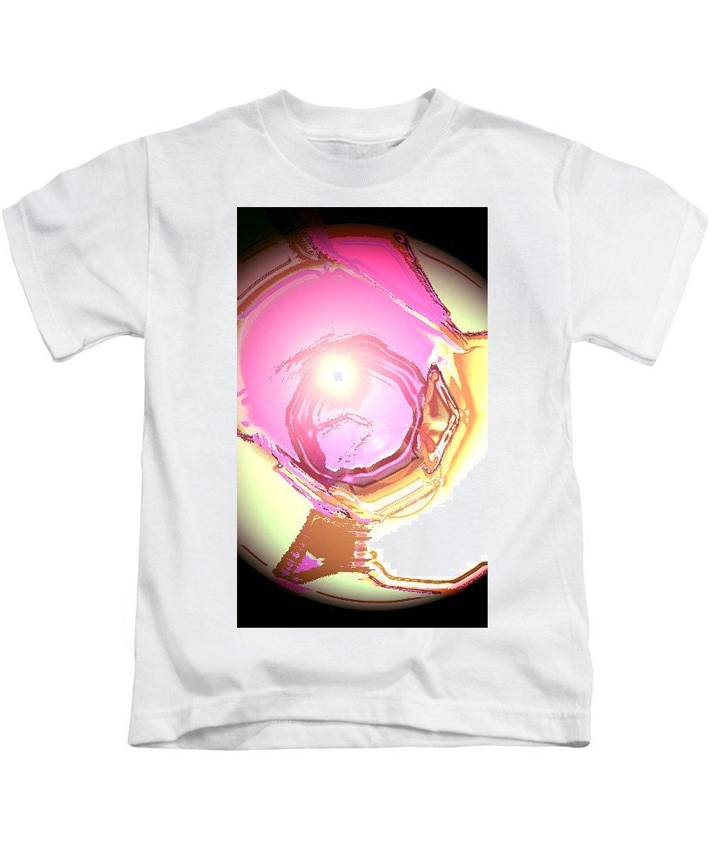 Moveonart! Digital Gallery Kids T-Shirt featuring the digital art Moveonart Enlightenment Now by Jacob Kanduch