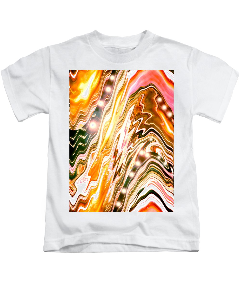 Moveonart! Digital Gallery Kids T-Shirt featuring the digital art Moveonart Letting Go Three by Jacob Kanduch