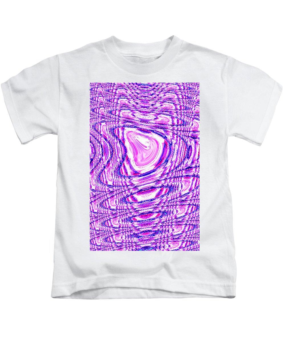 Moveonart! Digital Gallery Kids T-Shirt featuring the digital art Moveonart The Art Shall Speak by Jacob Kanduch
