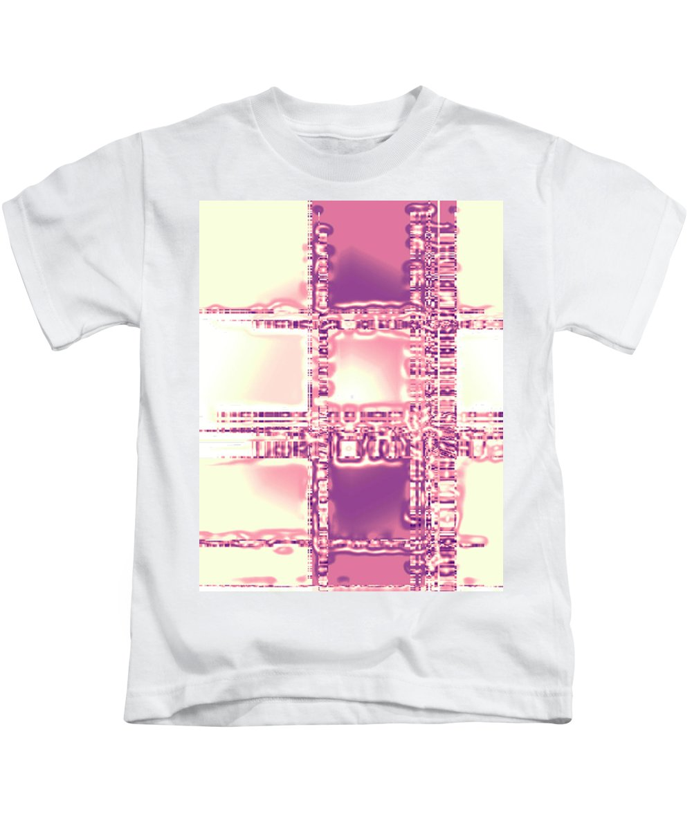 Moveonart! Digital Gallery Kids T-Shirt featuring the digital art Moveonart Thoughtful Intersections by Jacob Kanduch