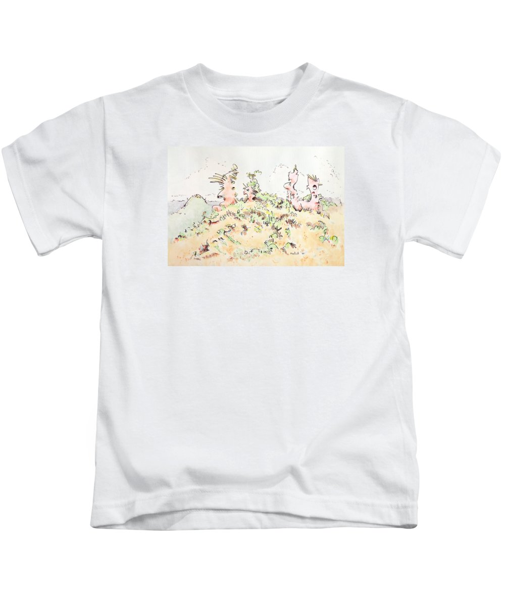 Angel Kids T-Shirt featuring the painting My Guardians by Dave Martsolf