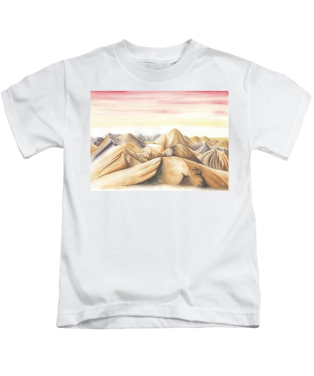 Landscape Kids T-Shirt featuring the painting My Holidays 1 by Mike Thompson