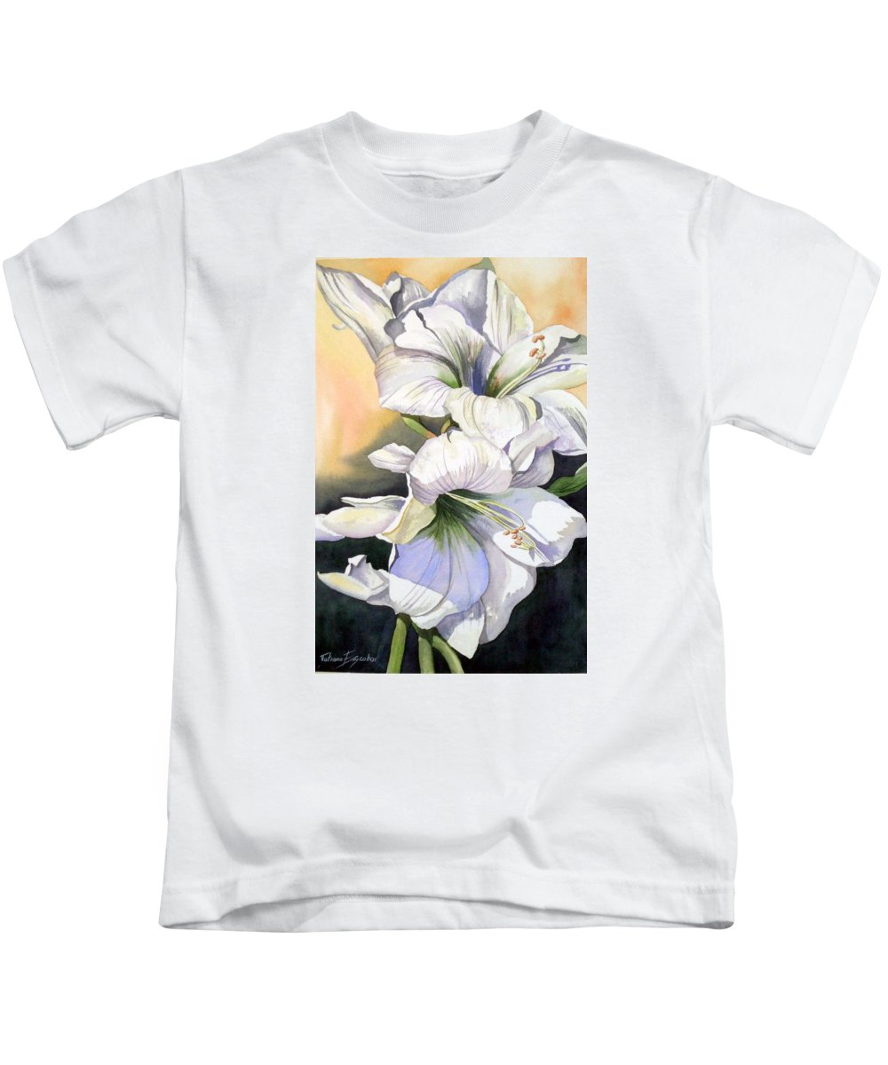 Flower Kids T-Shirt featuring the painting My Love by Tatiana Escobar