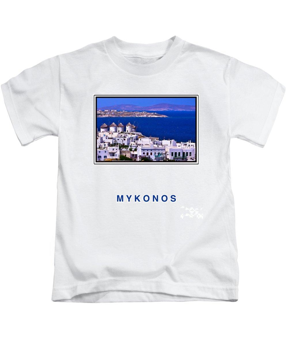 Mykonos Kids T-Shirt featuring the photograph Mykonos by Madeline Ellis